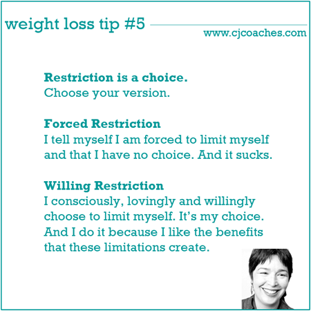 How to use restriction for your highest good (and weight loss, too)